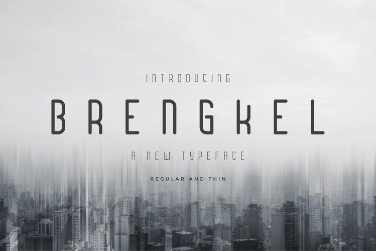 Brengkel - Condensed Font