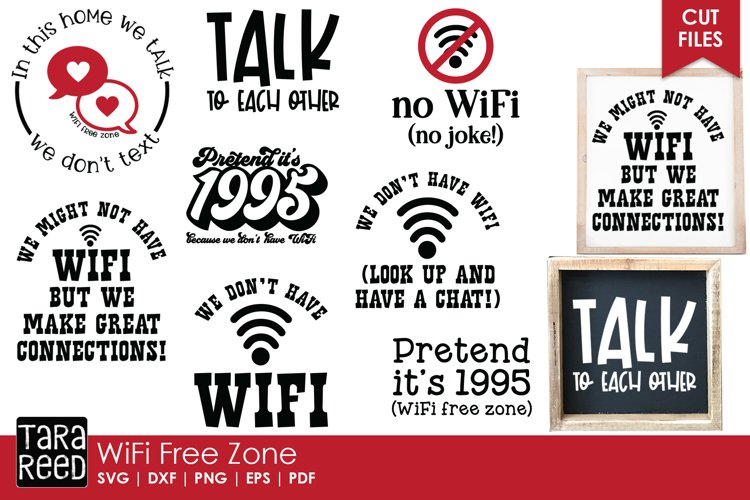 WiFi Free Zone - Home SVG and Cut Files for Crafters