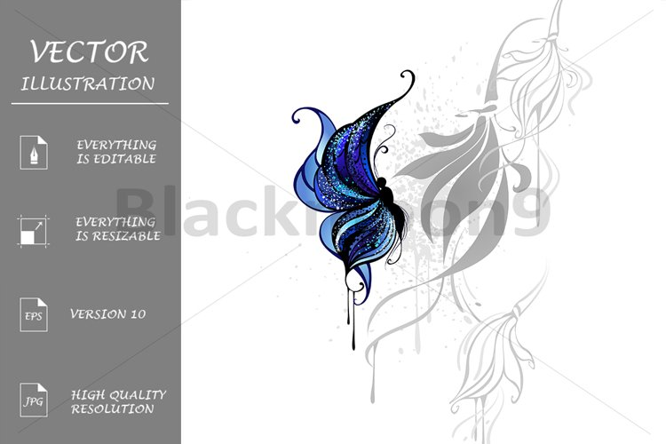 Dark Blue Butterfly example image 1