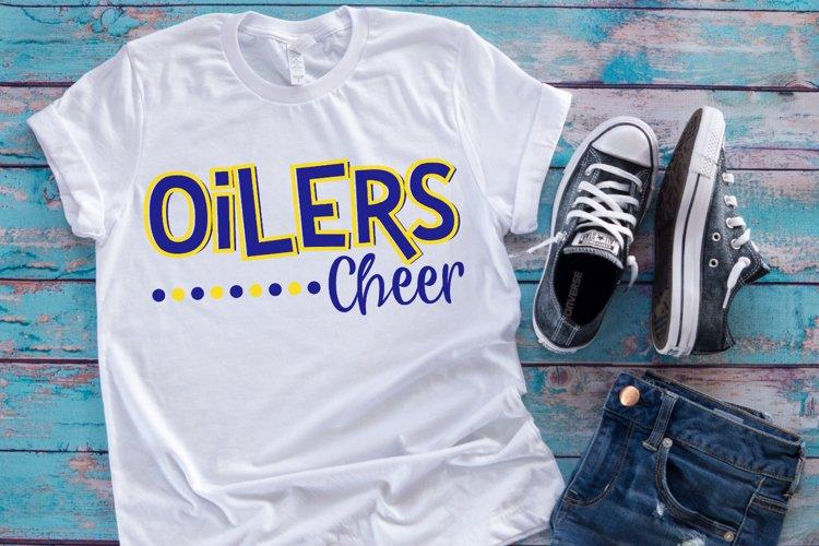 Cheerleader - Sports - Oilers Cheer SVG