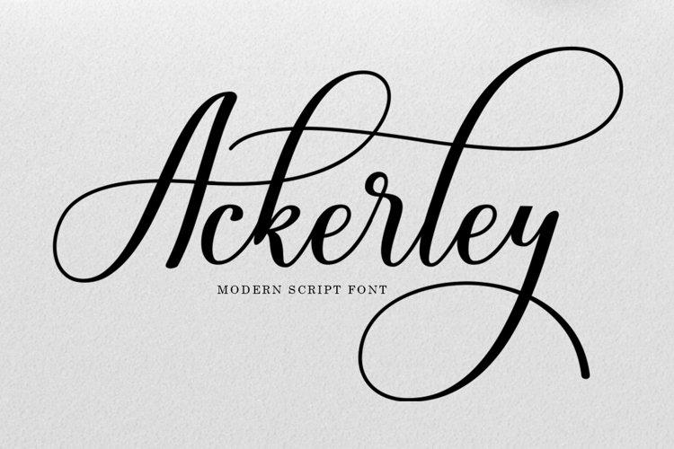 Ackerley Script