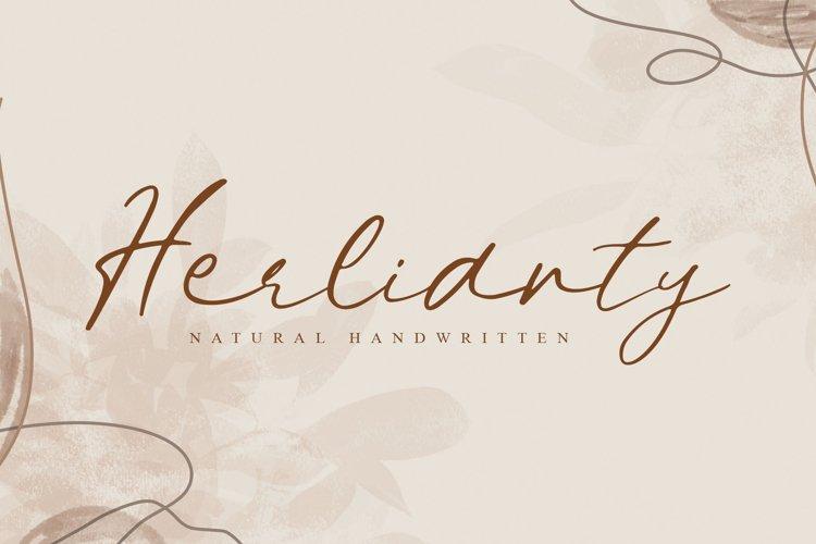 Herlianty | Natural Handwritten example image 1