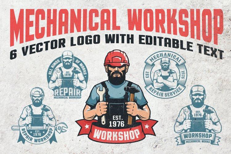 Mechanical Workshop Handyman Logo