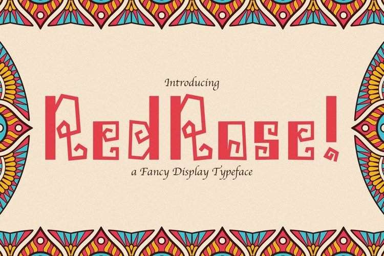 Web Font Redrose example image 1
