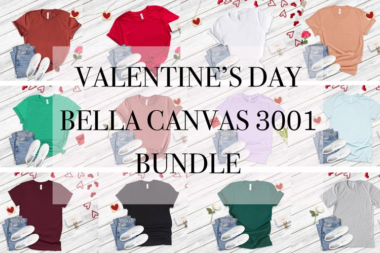 Valentine 20 T-Shirt Mockup Bundle, Unisex Bella Canvas 3001