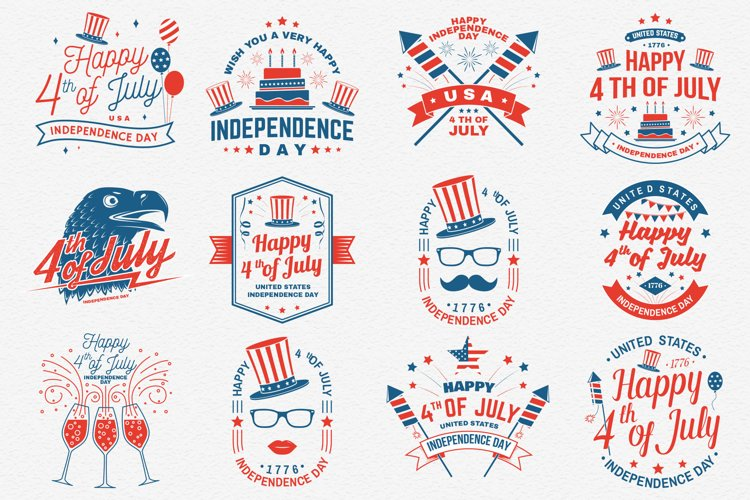 4th of July Badges/Logos/Cards