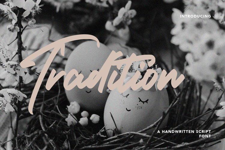 Tradition - Handwritten Script Font example image 1