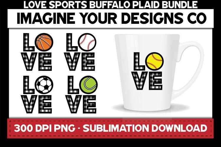 Love Sports Buffalo Plaid Sublimation Bundle