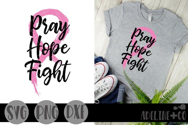 Pray Hope Fight, SVG, PNG, DXF, cancer, cancer ribbon