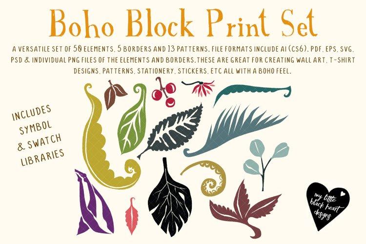 Boho Block Print Set