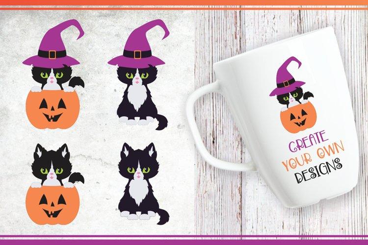 Black cats. Halloween clip art example 1