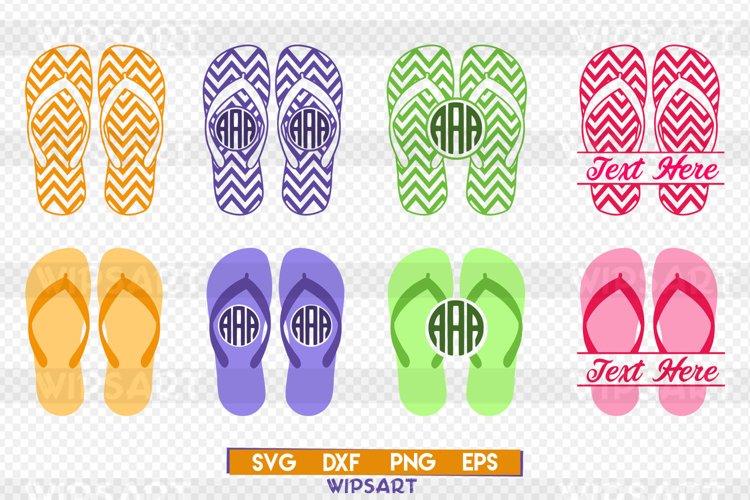 Flip flop svg, flip flop monogram svg, flip flop silhouette