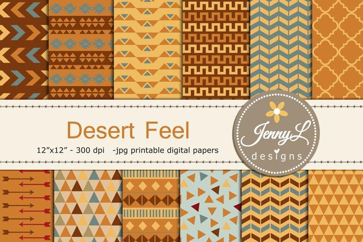Desert Tribal Digital Papers example image 1