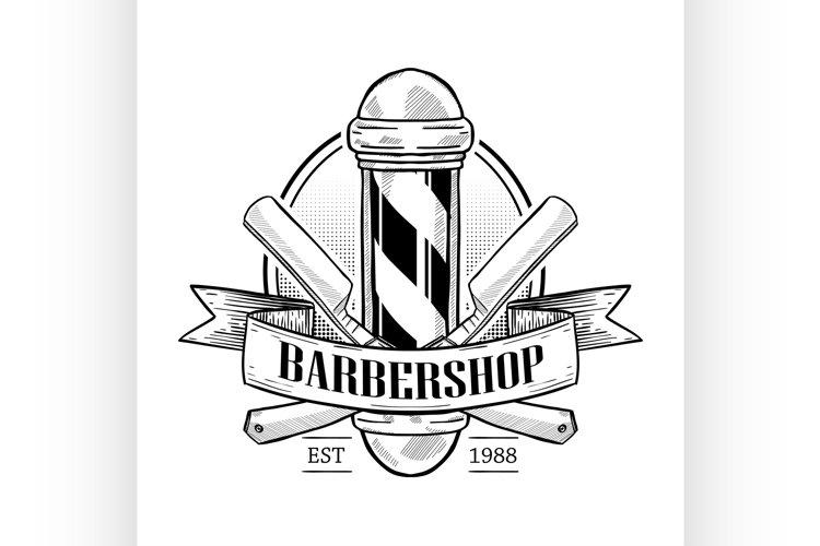 Barbershop logo with pole example image 1