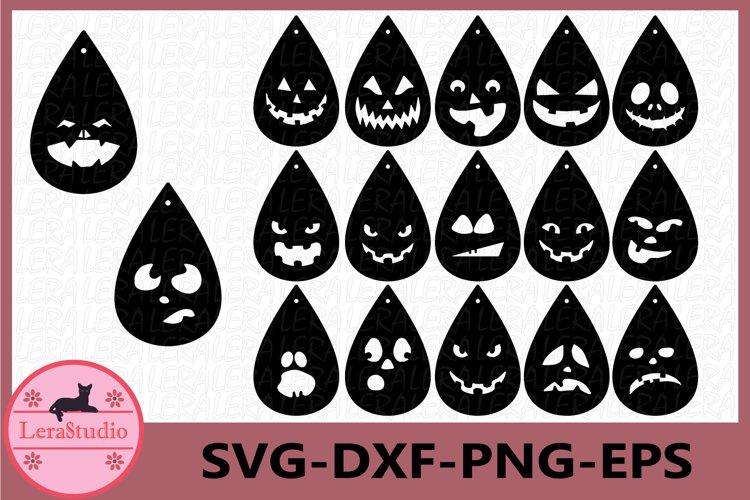 Earrings Halloween Svg, Earrings SVG, Earrings Faces SVG example image 1