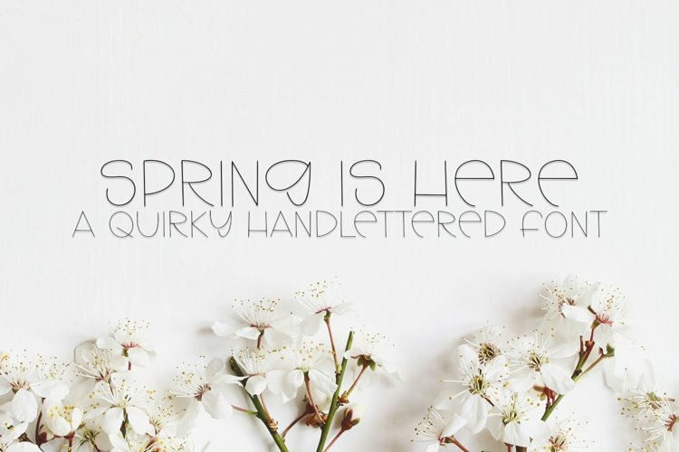 Web Font Spring Is Here - A Quirky Handlettered Font example image 1