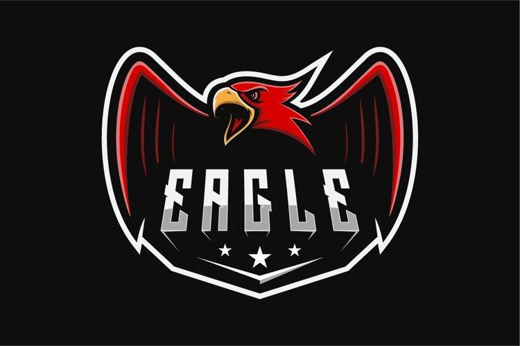 logo eagle design graphic game vector example image 1
