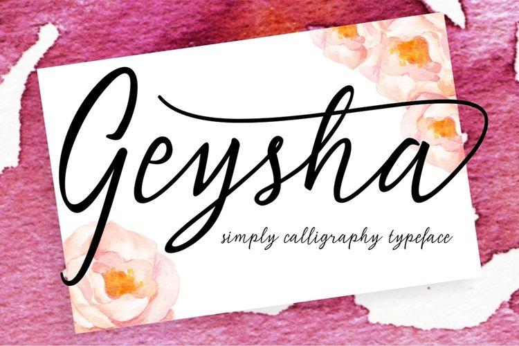 Geysha Script example image 1