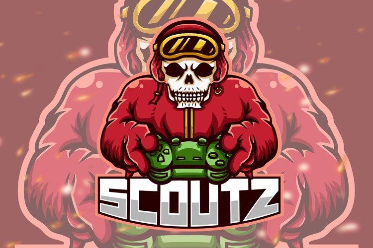 Scoutz Skull Squad Esport Gaming Logo