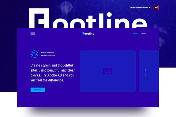 Rootline Wireframe UI Kit example image 1