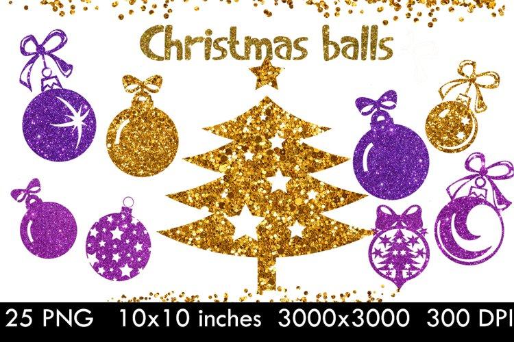 Christmas tree balls clipart,Gold christmas balls