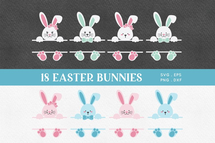 Easter Bunny Face svg png eps example image 1
