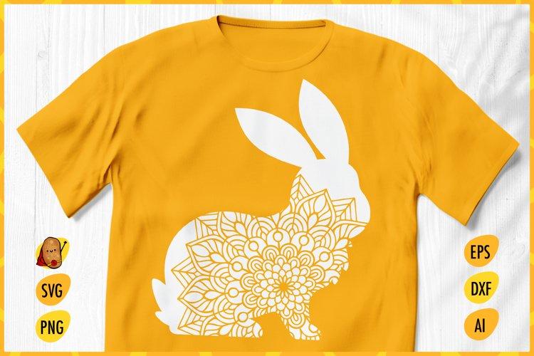 Easter Bunny Zentangle SVG - Easter Bunny Mandala SVG