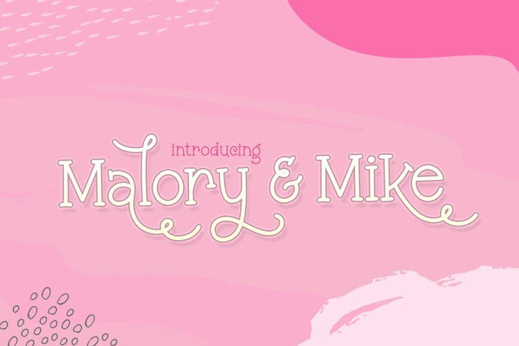 Malory & Mike Font Duo example image 1