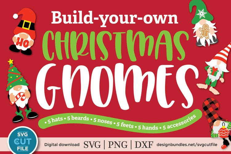 Christmas gnomes svg, a christmas gnome kit svg bundle example image 1