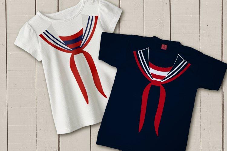 Faux Sailor Uniform SVG File Cutting Template