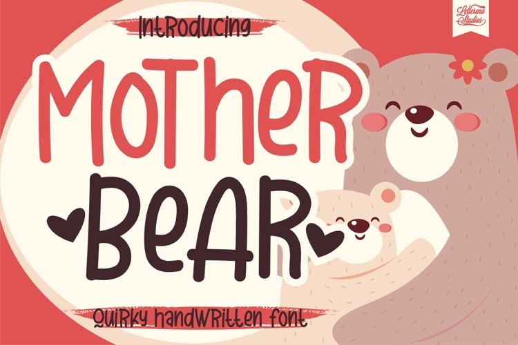 Mother Bear - Quirky Handwritten Font example image 1