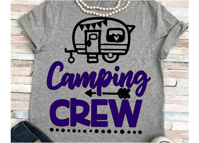Camping svg SVG DXF JPEG Silhouette Cameo Cricut Camper svg iron on Camping crew svg  Group camping shirts