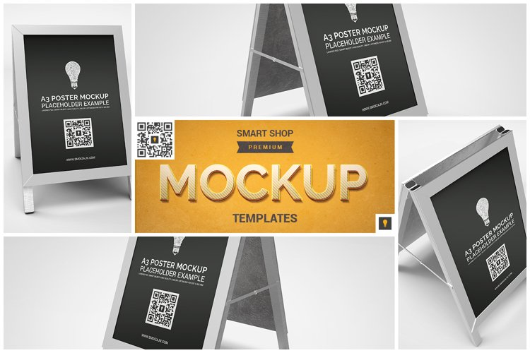 Poster Stand Display Mockup example image 1