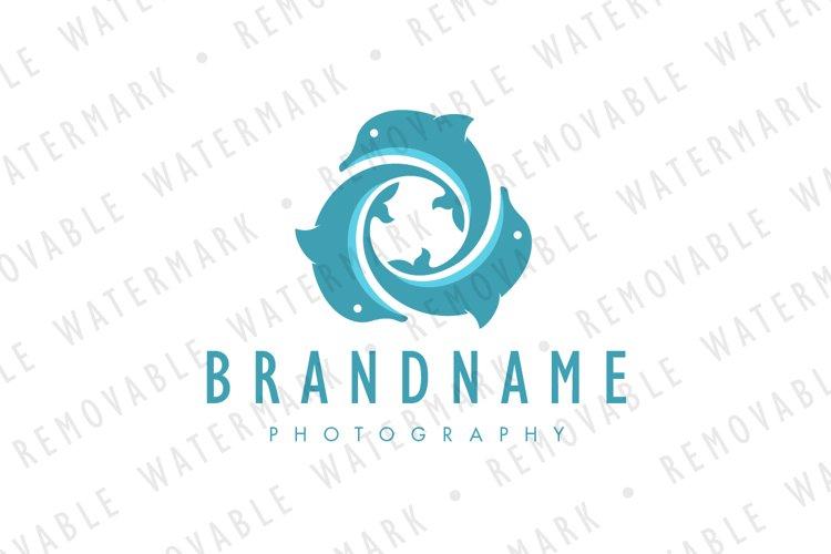 Vortex of Three Dolphins Logo example image 1
