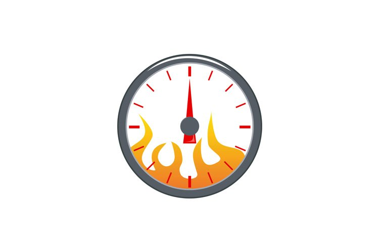 speedometer with flame example image 1