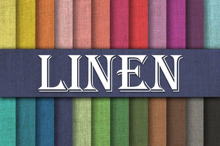 Linen Textures Digital Paper - Free Design of The Week Font
