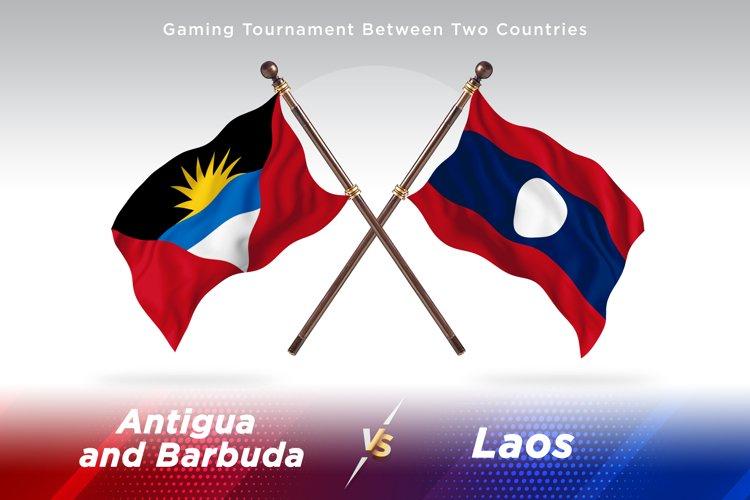 Antigua vs Laos Two Flags example image 1