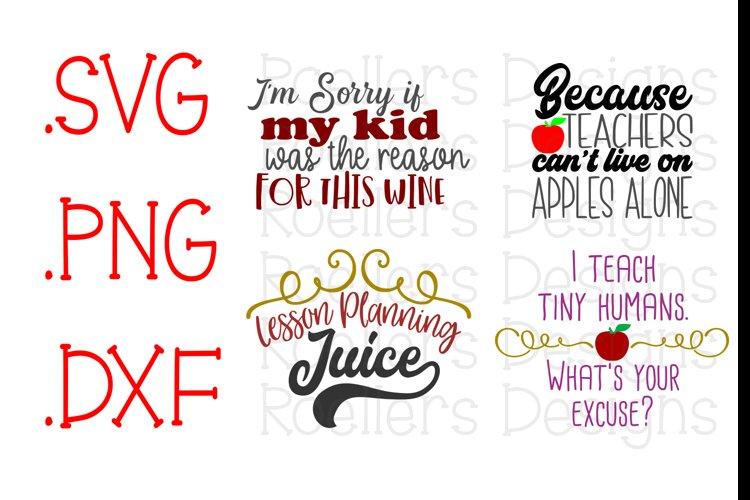 Teacher SVG, Teacher wine glass SVG, Apple svg, I teach tiny humans svg, Lesson planning svg, cricut, silhouette, svg, dxf, Teacher gift svg example image 1