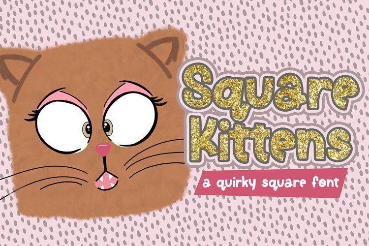Square Kittens Font
