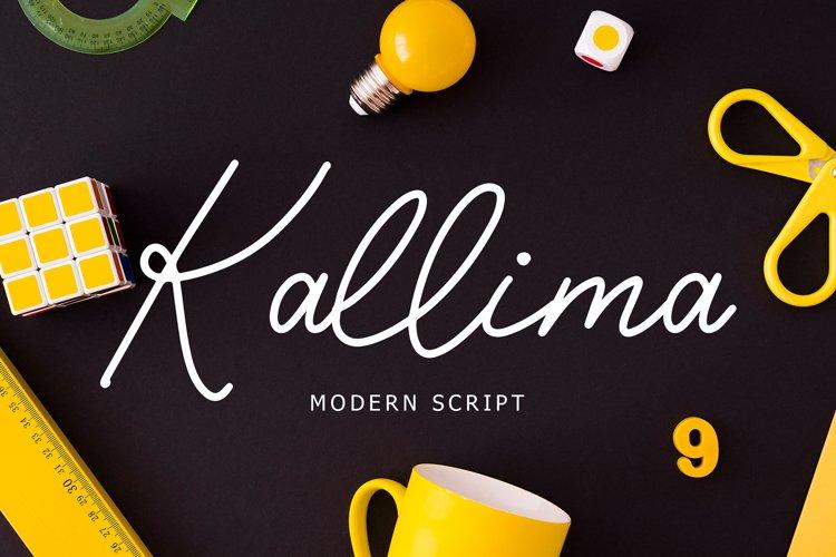 Kallima Modern Monoline Script Font example image 1