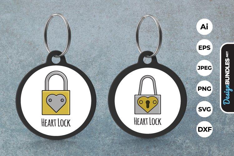 Heart Lock Keychain example image 1