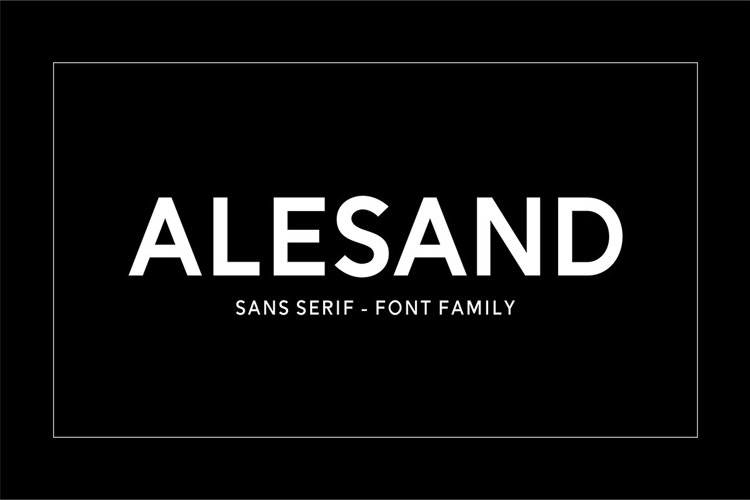 Alesand (7 Fonts) example image 1