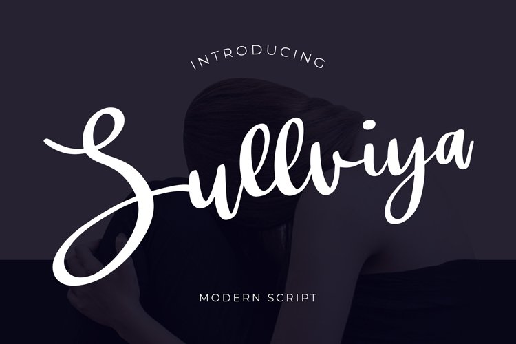Sullviya Modern Script Font example image 1