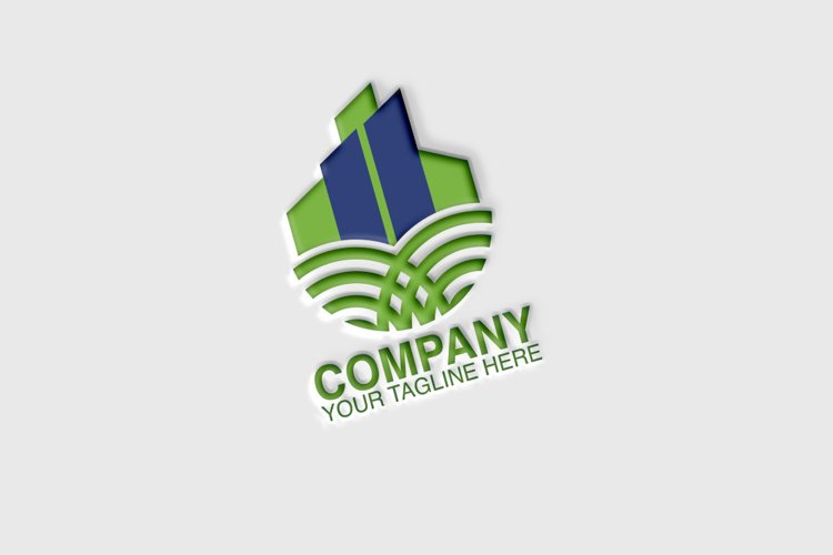 Green Home Logo Template example image 1