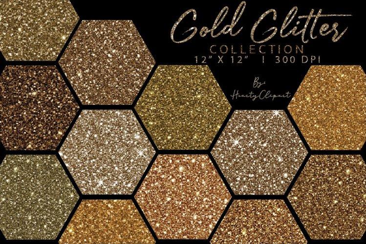 Gold glitter digital papers, champagne glitter