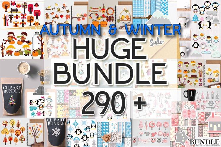 Autumn and Winter Illustrations Huge Bundle