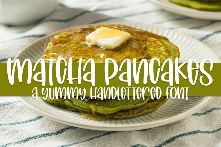 Web Font Matcha Pancakes - A Yummy Hand-lettered Font example image 1