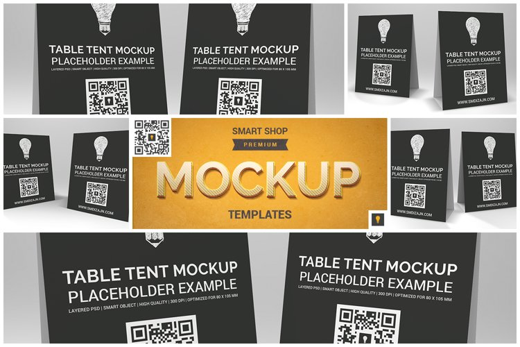 Table Tent Mockup example image 1