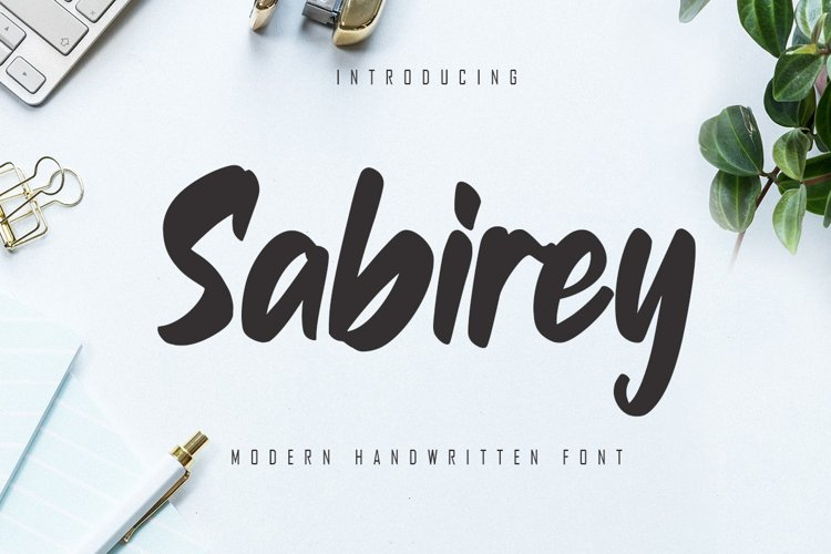Sabirey - Handwritten Font example image 1