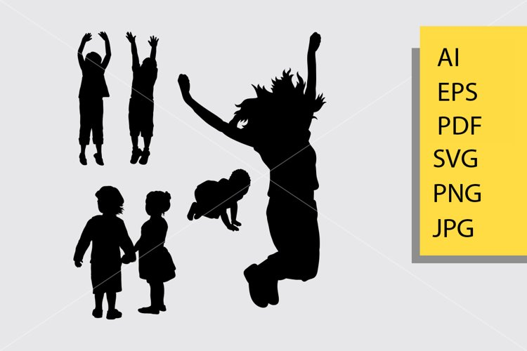 Children 5 silhoutte example image 1